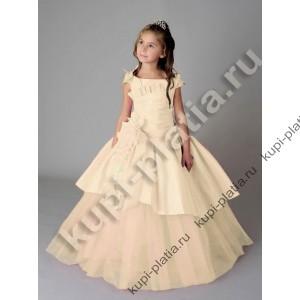 Платье для девочки Таня бант крем
