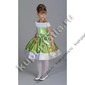 Платье для девочки Лидия бант салатовое