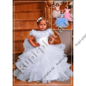 Платье для девочки Бусинка белое 2012-028