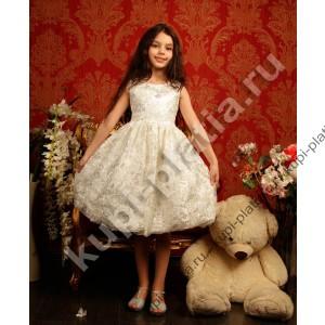Платье для девочки Розалия кремовое