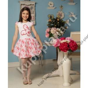 Платье для девочки Летняя бабочка красный