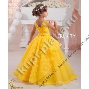 Детское платье желтого цвета купить