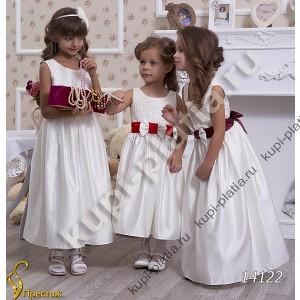 Платье для девочки Вафелька бантик ср