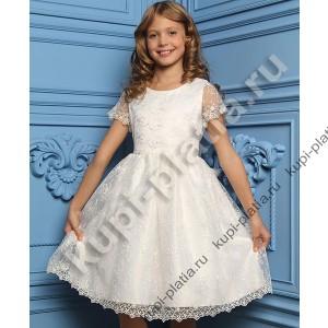 Платье для девочки девочка школьница крем
