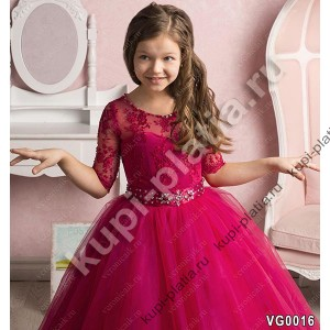 Платье для девочки Москва малиновое
