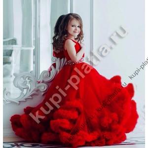 Платье для девочки красное Безе-2