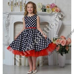 a4f614abf09 Купить красивое Платье Стиляги на выпускной синее горох в интернет ...