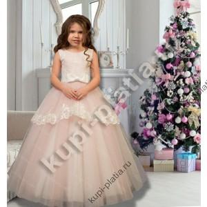 1768102e979 Купить красивое Платье нарядное для девочки Баска пудра в интернет ...