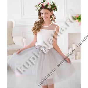 a23b2112fff Купить красивое Платье Летнее платье костюм Школьница сер в интернет ...