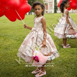 1746e6978649559 Платье для девочки для выступлений Мальвинка жаккард