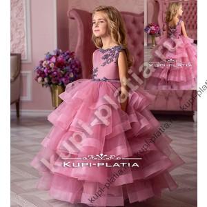 73357b0b0d7e357 Платье для девочки праздничное длинное Брусничка