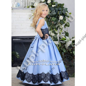 d35745d79c6 Платье для девочки на выпускной Фиалка атлас голубой