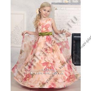 b9c2e773594 Купить красивое Платье на выпускной Азалия органза персик в интернет ...